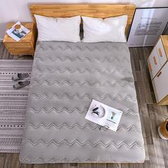 2018新款-保暖法莱绒床垫 90*200cm 浅灰色