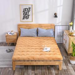 2018新款-保暖法莱绒床垫 90*200cm 驼色