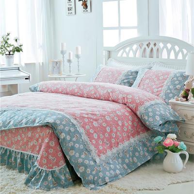 2017 小清新床单-床裙-双款式系列(床单款/送手袋) 1.2米 慢时光
