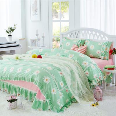 2017 小清新床单-床裙-双款式系列(床裙款/送手袋) 1.2米 雏菊