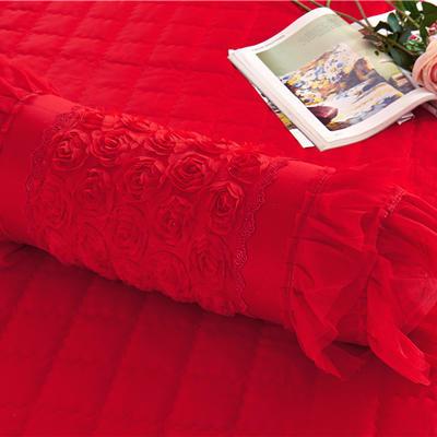 2017 新款糖果枕 糖果枕(含芯) 香水玫瑰-大红糖果枕