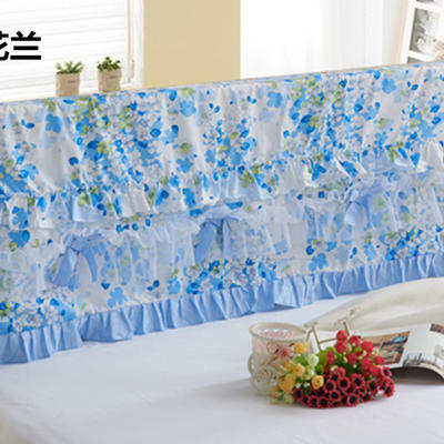 2017 新款床头罩-花卉系列 1.2米 樱花-蓝