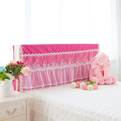 2017 新款水晶之恋-床头罩 1.5米 玫红色