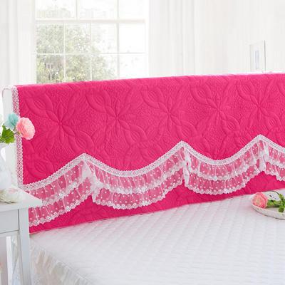 2017 新款公主恋人-夹棉系列床头罩 1.5米 公主-玫红