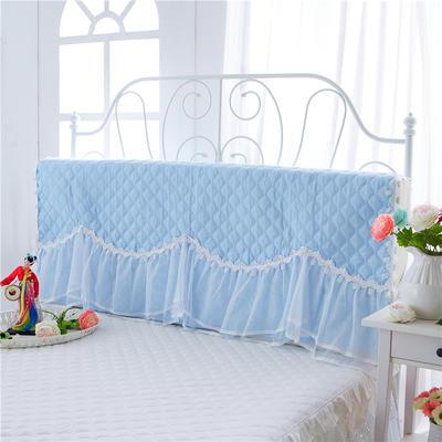 2017 新款花的嫁衣-夹棉系列床头罩 1.2米 天空蓝