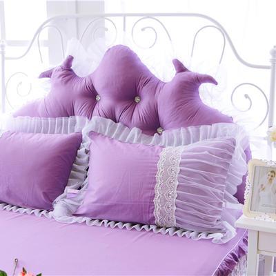 2017 新款花边一枕套 花边枕套 水晶之恋-紫