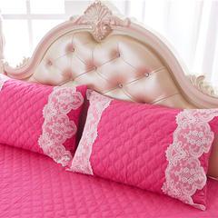 2017 新款夹棉—枕套 夹棉枕套 花的嫁衣-玫红