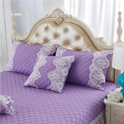 2017 新款夹棉—枕套 夹棉枕套 花的嫁衣-紫