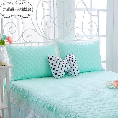 2017 新款夹棉—枕套 夹棉枕套 水晶 -绿