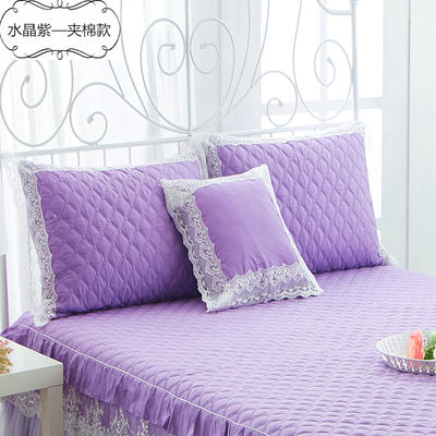2017 新款夹棉—枕套 夹棉枕套 水晶之恋-紫色