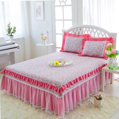 2017-花卉系列床裙 1.2米 古朴花绣
