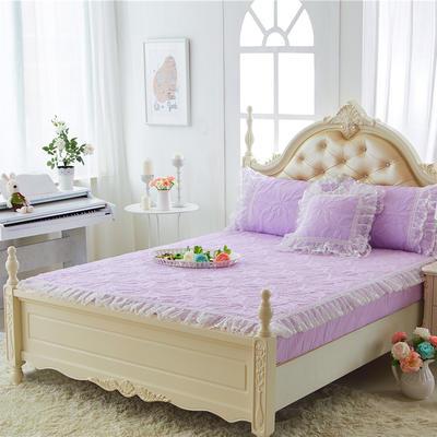 2017 新款公主范-夹棉床笠 1.2米 公主紫