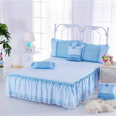 2017 全棉13372蕾丝-夹棉-床裙 1.2*2.0米 沁香花语