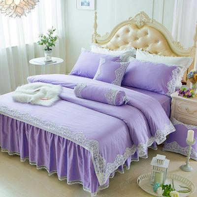 2017 新款60S贡缎长绒棉四件套 1.2米 高贵紫