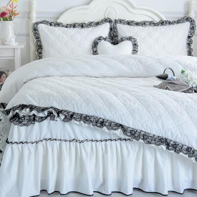 夹棉四件套——罗马假日系列 1.2m(4英尺)床 珍珠白色