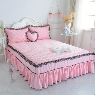 新品夹棉蕾丝床裙(罗马假日) 120cmx200cm 蜜粉色