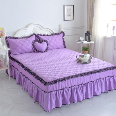 新品夹棉蕾丝床裙(罗马假日) 120cmx200cm 浪漫紫