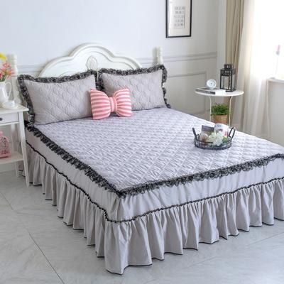 新品夹棉蕾丝床裙(罗马假日) 120cmx200cm 银灰色