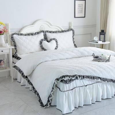 新品全夹棉保暖四件套(罗马假日) 1.2m床三件套 珍珠白