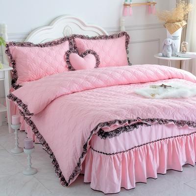 新品全夹棉保暖四件套(罗马假日) 1.2m床三件套 蜜粉色