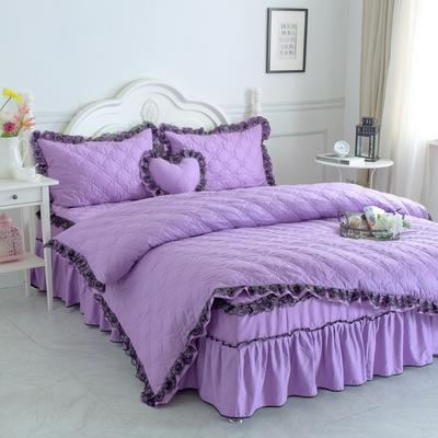 新品全夹棉保暖四件套(罗马假日) 1.2m床三件套 浪漫紫