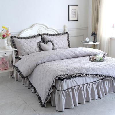 新品全夹棉保暖四件套(罗马假日) 1.2m床三件套 银灰色