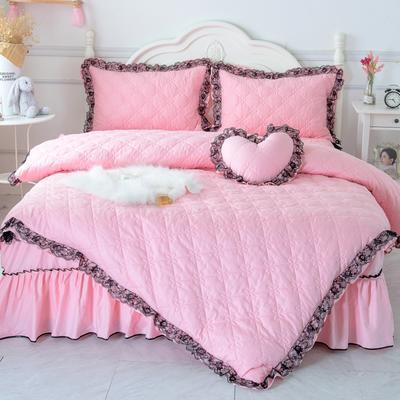 罗马假日系列全棉被套 155*205cm 蜜粉色