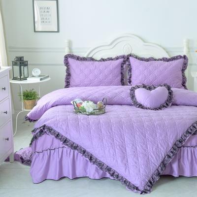 罗马假日系列全棉被套 155*205cm 浪漫紫