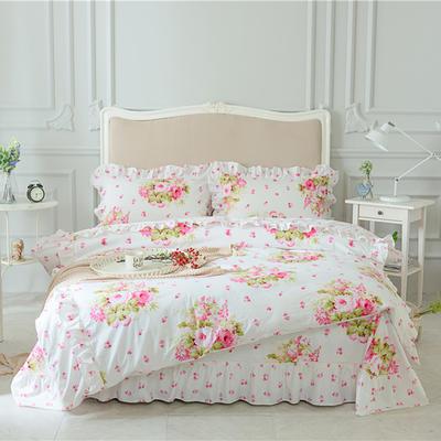 菊上家纺    全棉133*76花卉款四件套 标准1.5-1.8m床单款 花园时光
