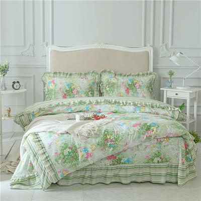 菊上家纺    全棉133*76花卉款四件套 标准1.5-1.8m床单款 艾菲花园