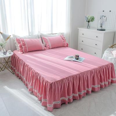 菊上家纺    女神色织水洗全棉单件 1.2m床裙 歌舞红