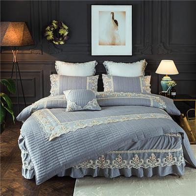 2018-新品四件套-全棉水洗加棉款 1.5m床(配包装) 灰尼