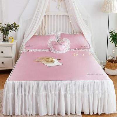2019-新品床裙款冰丝席 1.5m(5英尺)床 玫瑰粉