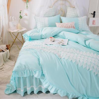 2019-新品床裙四件套-爱莎系列 1.2m床(三件套) 冰雪蓝