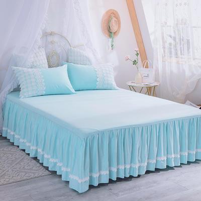 2019新款法式浪漫蕾丝床裙 120cmx200cm 冰蓝