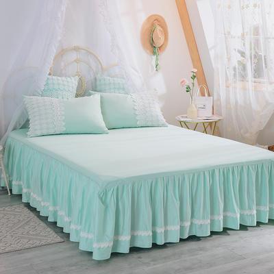 2019新款法式浪漫蕾丝床裙 120cmx200cm 绿茶