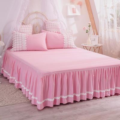 2019新款法式浪漫蕾丝床裙 120cmx200cm 红粉