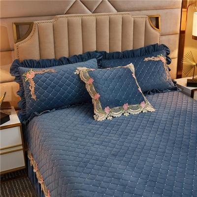 2019新款雅典娜水晶绒加厚夹棉单品枕套 50cmx50cm(含芯) 莫兰