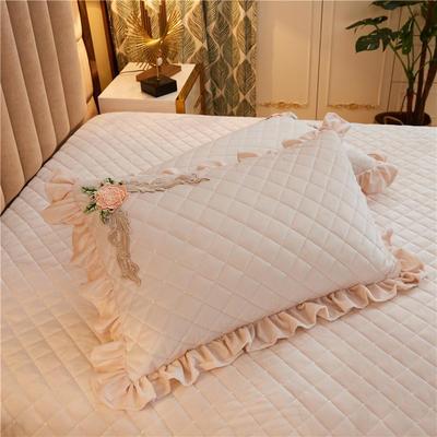 2019新款雅典娜水晶绒加厚夹棉单品枕套 50cmx50cm(含芯) 素米