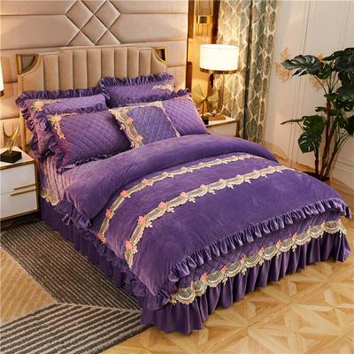 2019新款雅典娜水晶绒加厚夹棉单品被套 单被套:220x240cm 水晶紫