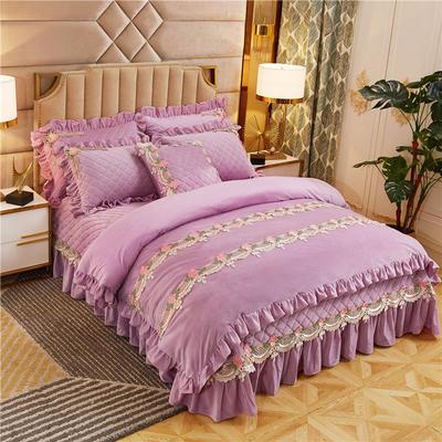 2019新款雅典娜水晶绒加厚夹棉单品被套 单被套:200X230cm 香芋紫