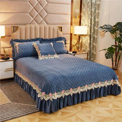 2019新款雅典娜水晶绒加厚夹棉单床盖 单床盖:240cmx250cm 莫兰