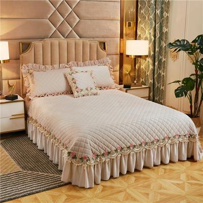 2019新款雅典娜水晶绒加厚夹棉单床盖 单床盖:240cmx250cm 素米