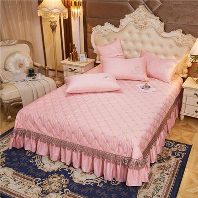 2020新款-60-支长绒棉-山茶花系列床盖 床盖250*250cm 粉玉