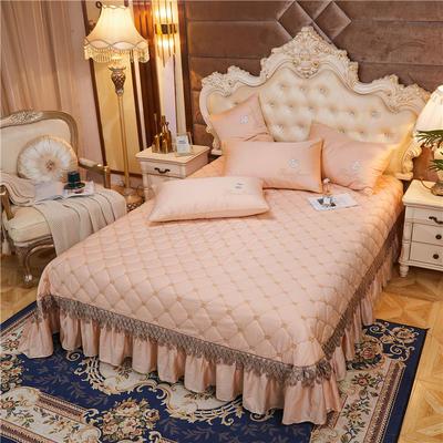 2020新款-60-支长绒棉-山茶花系列床盖 床盖250*250cm 香槟金