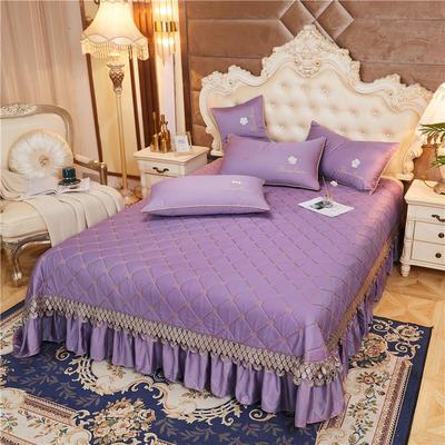 2020新款-60-支长绒棉-山茶花系列床盖 床盖250*250cm 香芋紫