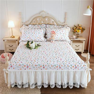 2020新款-小清新全棉蕾丝单品床裙棚拍图 120*200+45CM 初恋