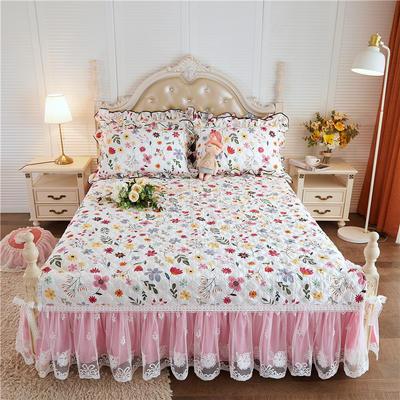 2020新款-小清新全棉蕾丝单品床裙棚拍图 120*200+45CM 花香