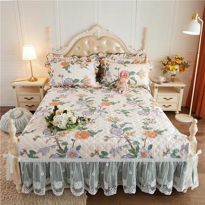 2020新款-小清新全棉蕾丝单品床裙棚拍图 120*200+45CM 清雅