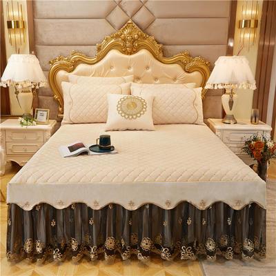 2020新款-水晶绒金色年华系列单品床裙 120*200+45 米卡